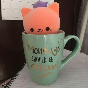 "BACK TO SCHOOL SPECIAL! Pretty ""Monday"" mug NWT!"